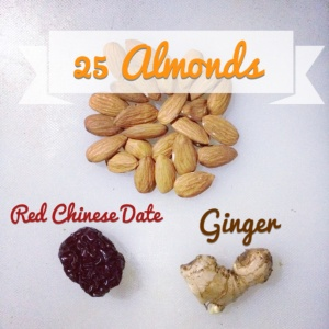 Almond Milk with Ginger and Date