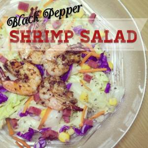 Black Pepper Shrimp Salad
