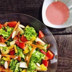 Homemade Strawberry Yogurt Salad Dressing