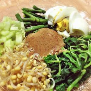 Indonesian Vegetable Salad with Peanut Dressing